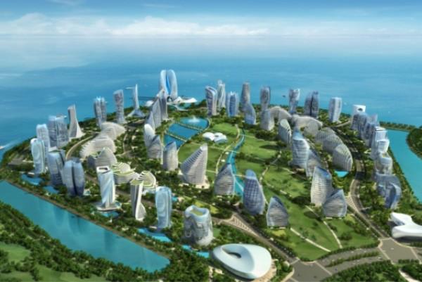 Chinese 24 Billion Dollar Ocean Flower Island