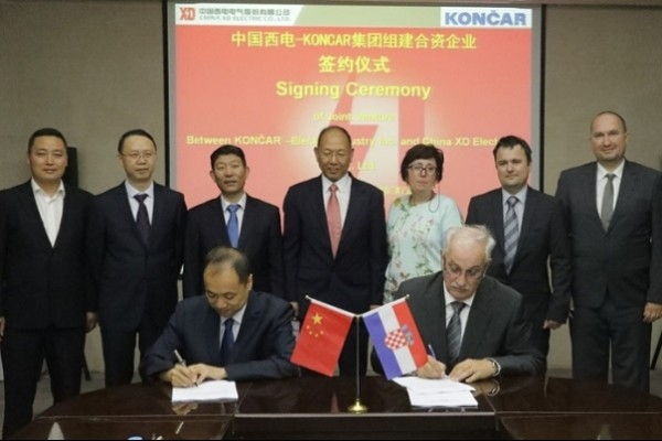 Koncar EI and China XD Electric Co sign joint venture agreement