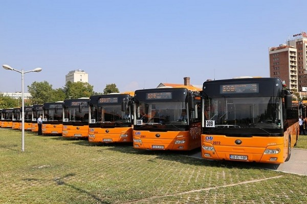 Zhengzhou Yutong electric buses in Sofia